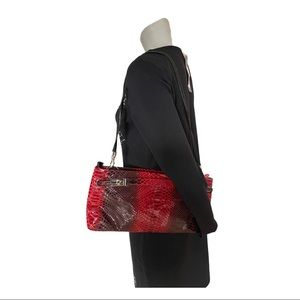 Due Fratelli Red/Black Ombré Leather Purse